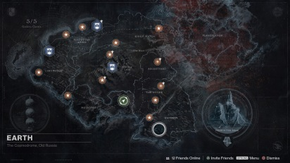 Destiny: Expanded map on Earth.