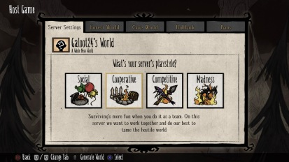 Don't Starve Together: Server options