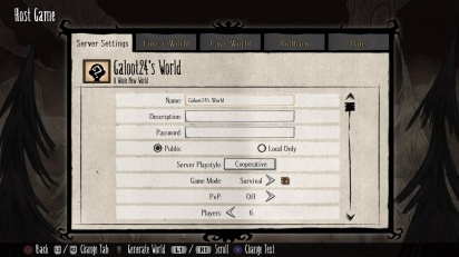 Don't Starve Together: Additional settings for your server
